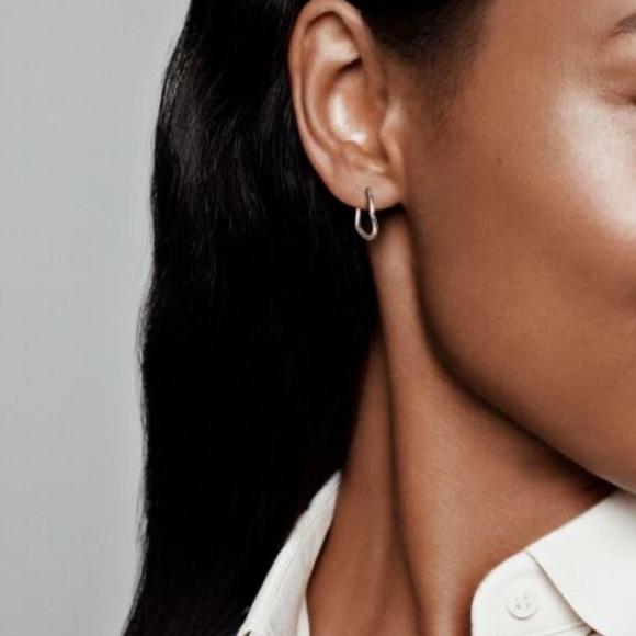 Pandora Jewelry - Asymmetrical heart earrings